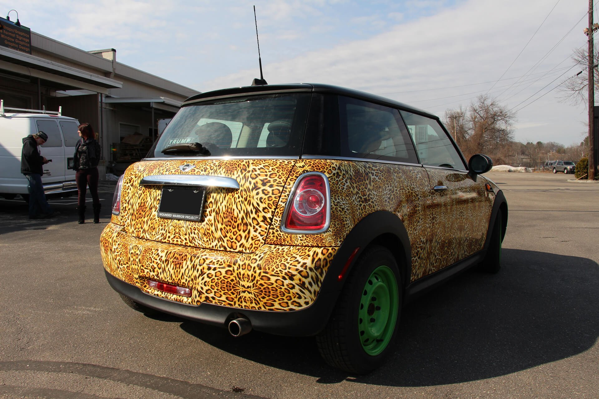 mini cooper right back after leopard