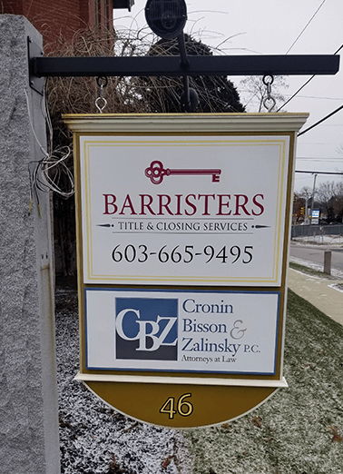 barristers new restored sign
