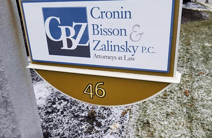 cronin bisson & zalinsky new restored sign