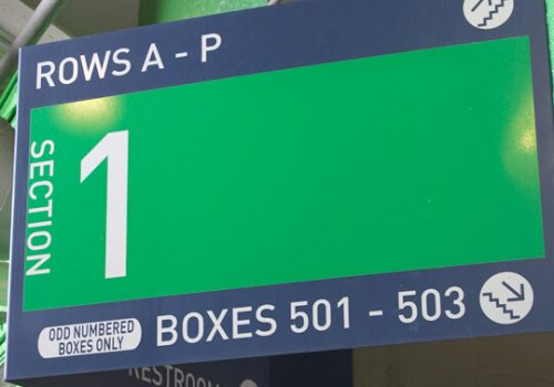 Sports Venue Wayfinding Signage
