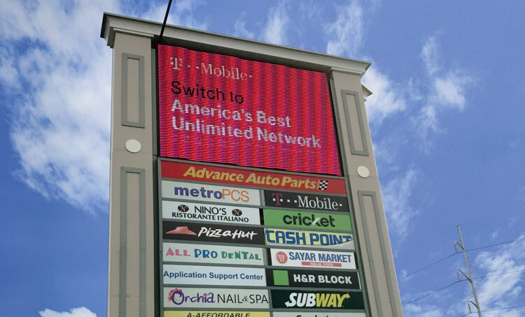 Electronic Message Signs - T-Mobile Message Sign