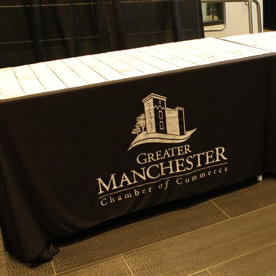 Greater Manchester Chamber of Commerce Table Skirt - Event Signage