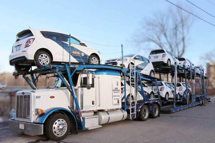 Sanel NAPA sleet wrap coupes on truck