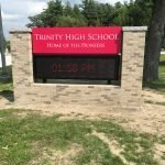 Trinity High School Pylon and Monument Sign