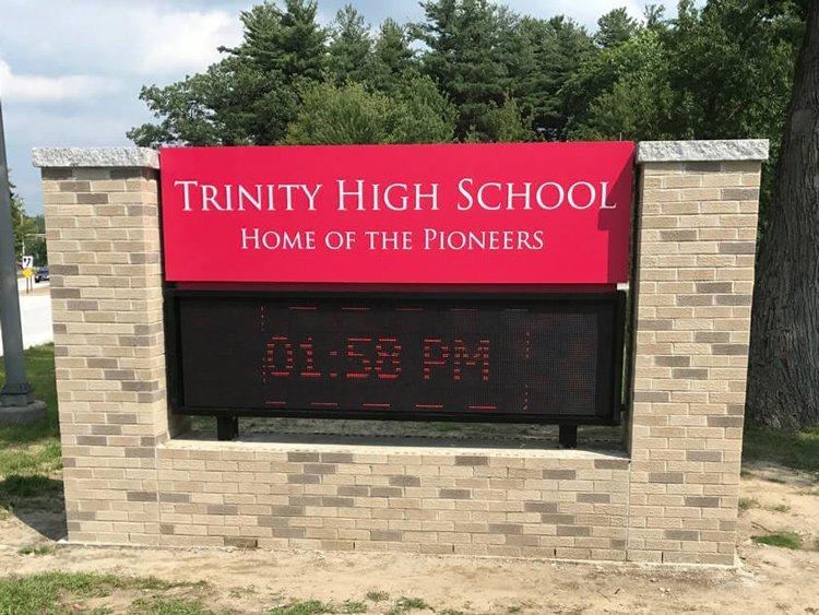 Trinity High School signage
