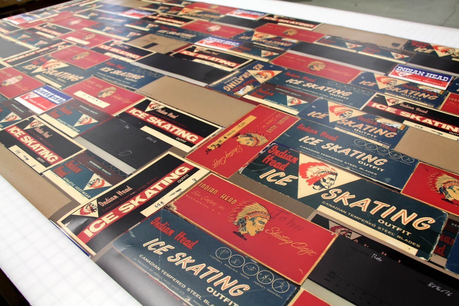 Vinyl print for wrapping interior signage shoe wall