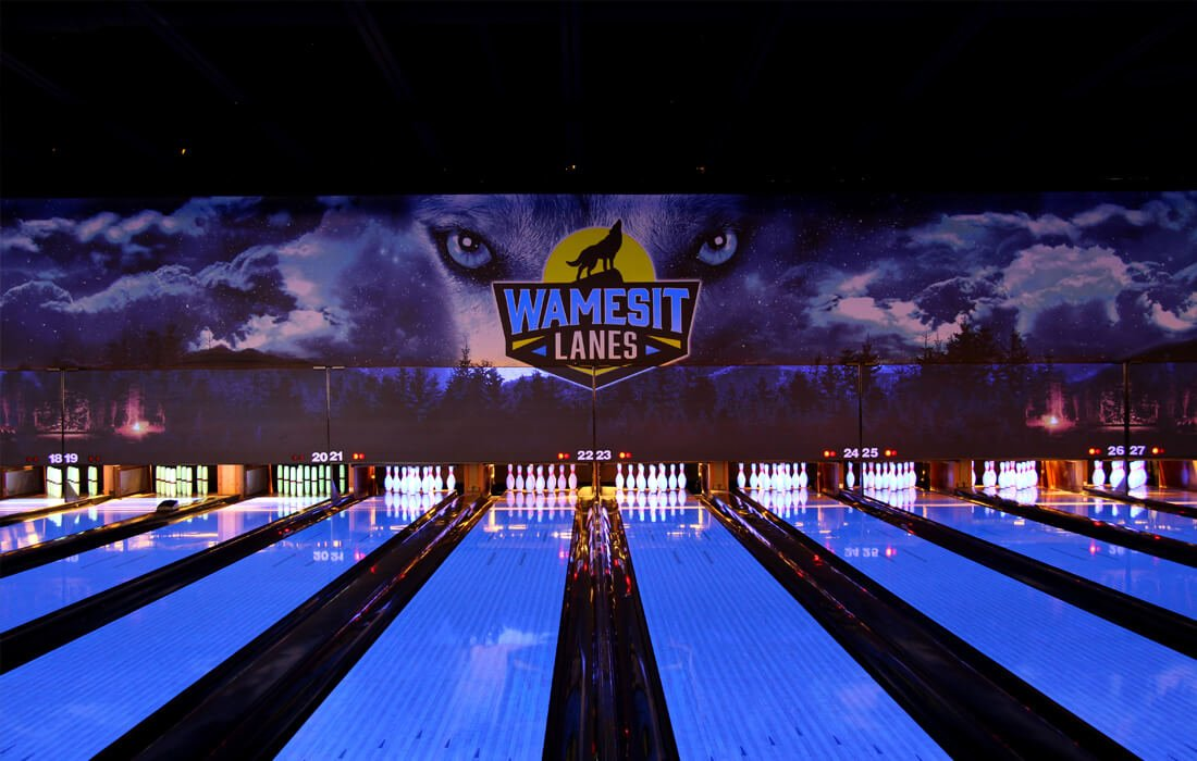 Glow-in-the-Dark - Large Format Printing Installation at Wamesit Lanes