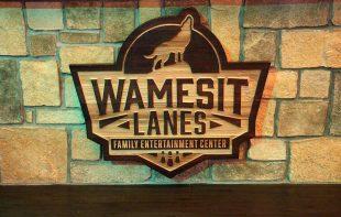 Wamesit lanes interior dimensional signage