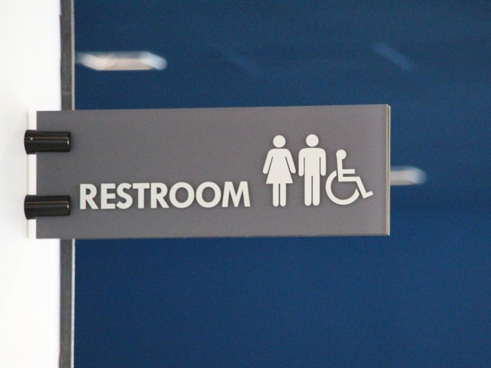 Restroom sign multi sex bathroom Wayfinding Signage
