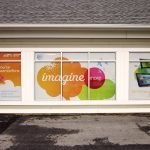 AT&T Exterior Retail Signage Window Cling Wrap